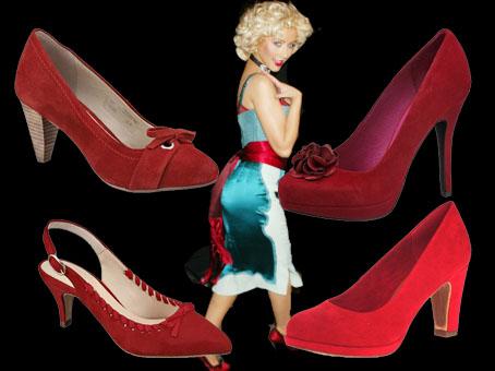 Rote Schuhe wie Christina Aguilera