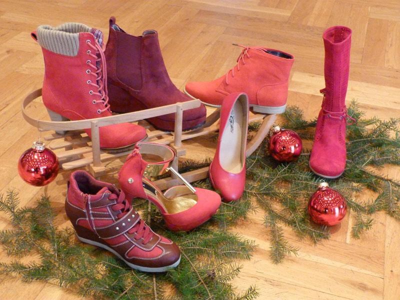 Rote Schuhe im Schuhadventskalender