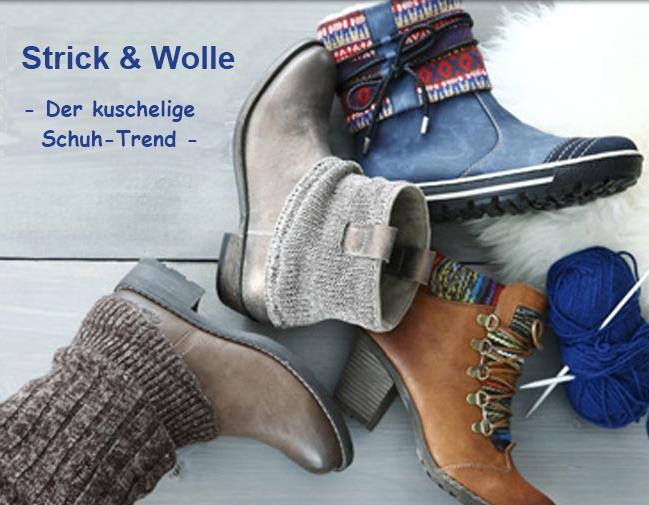 Strick & Wolle - der kuschelige Schuhtrend