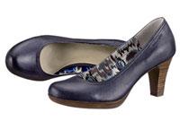 Blaue Pumps von Tamaris mit Trichterabsatz