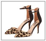 Spitze High Heels in Leopardenmuster mit Fesselriemchen