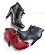 Feine Ankle Boots in rot, blau und schwarz