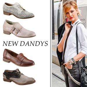 Verschiedene Schuhe in Dandy-Form