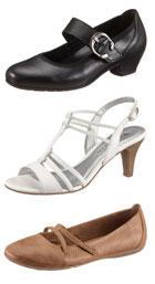 Drei verschiedene Schuhe mit Riemchen
