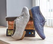 Durch feinen Lasercut sehen die Schuhe besonders toll aus.