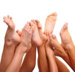 Füße gibt es in allen verschiedenen Formen und Größen.