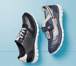 Blau und schwarz kombinierte Sneaker von Hush Puppies