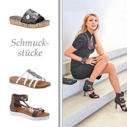 Schuhe mit schmückenden Elementen zeichnen sich von herkömmlichen Looks ab.