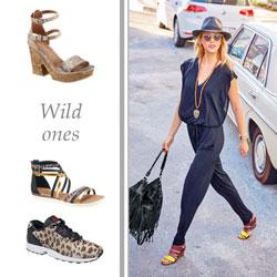 Sandaletten, Sandalen und Sneaker begeistern im Animal-Print.