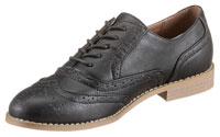Der maskuline Stil der Dandy-Schnürer dominiert den Look der Schuhe.