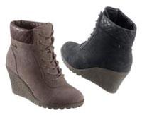 Schuhe mit Keilabsatz machen das Laufen etwas einfacher und geben Halt.