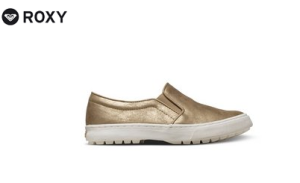 Der Slipper von Roxy schimmert in tollem Gold-Metallic-Ton.