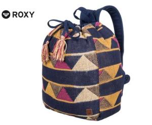 Der farbenfrohe Rucksack von Roxy im Ethno-Look liegt voll im Trend.
