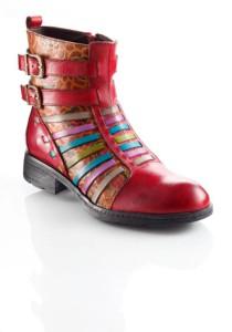 Die Schuhe von Laura Vita begeistern mit ihrem farbenfrohen Look.