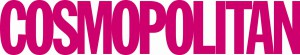 Das weltweit bekannte Logo der Cosmopolitan ist der pinkfarbene Schriftzug.
