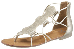 Metallic-Looks machen den Schuh elegant.