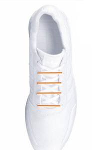 Vertikale Schnürungen bieten breiten Füßen mehr Halt.