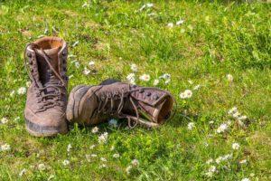 Um Blasen vorzubeugen, müssen Schuhe richtig gut passen.