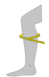 Deine Schaftweite ermittelst du einem Maßband an der breitesten Stelle deiner Wade