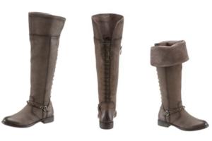 Overknee von Tamaris im stylischen used Look mit umlegbarem Stiefelschaft