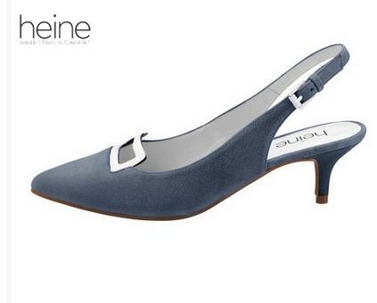 Der Kitten Heel Absatz hat ein schlichtes Design, spitze Schuhform und schmalen Absatz.
