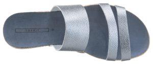 Metallic-Pantolette von Esprit in eisblau