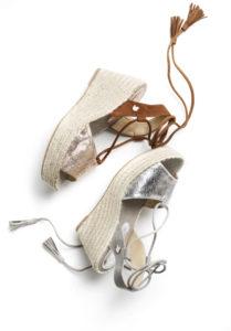 Keilsandaletten von Tom Tailor in Metallic-Optik