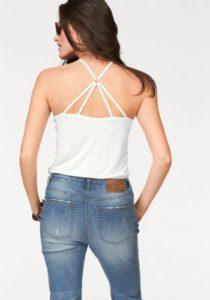 Aniston Spaghettitop mit Rücken- Dekolleté