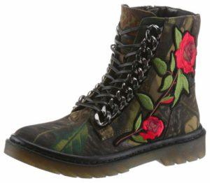 Boots mit Blumenprint
