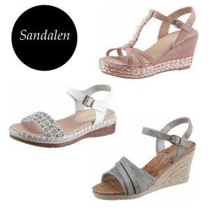 Verschiedene Sandalen in Bast-Optik auf imwalking.de!