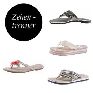 Entdecke schöne Zehentrenner für deinen Schuhschrank auf imwalking.de!