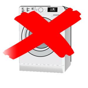 Vor dem Waschen in einer Waschmaschine raten wir eher ab.