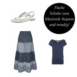 Flache Schuhe zum Maxirock: bequem und trendig!