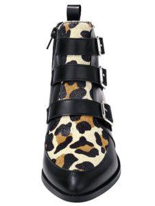 Coole Biker-Leoprint-Boots!