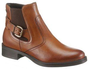 Klassisch braune Chelsea Boots mit Schnalle