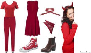 Last-Minute Halloween Verkleidung als Teufel!