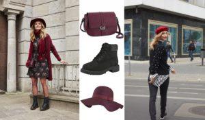 Details in der Trendfarbe Bordeaux machen dein Outfit richtig herbstlich!