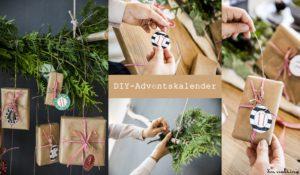 DIY - Adventskalender mit Tannengrün.