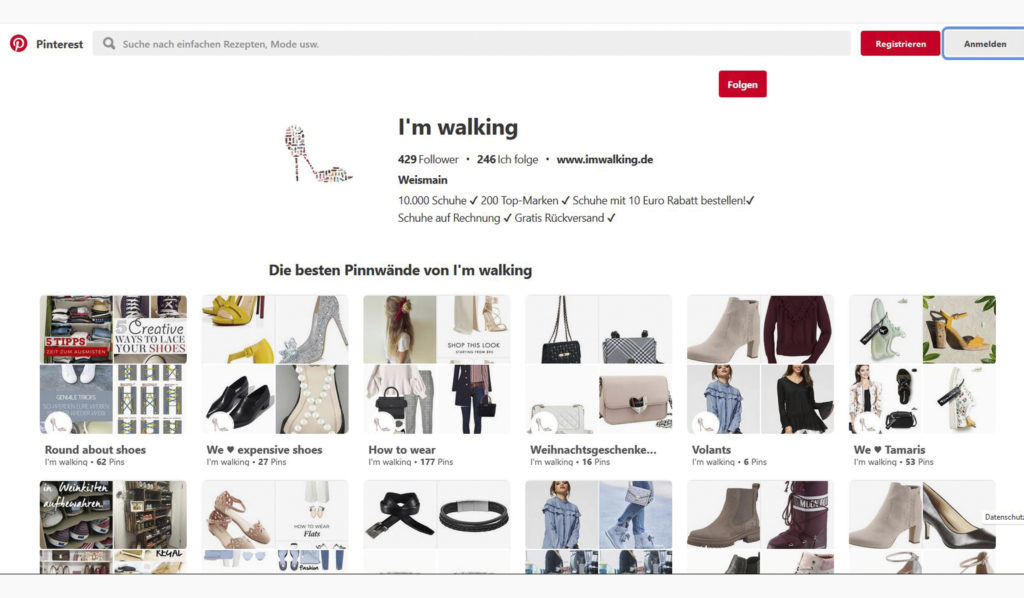 I'm walking auf Pinterest