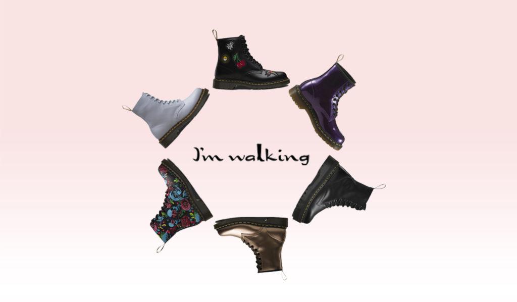 Große Vielfalt an Dr. Martens gibt es bei imwalking.de!