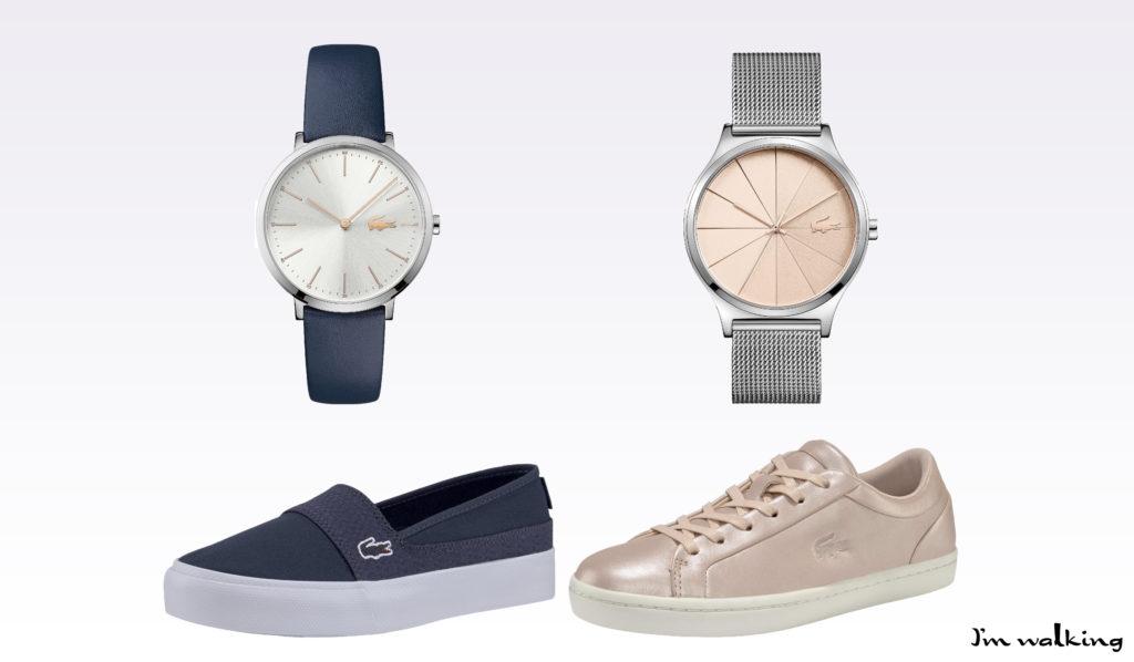 Stylische Lacoste Schuhe und Accessoires auf imwalking.de!