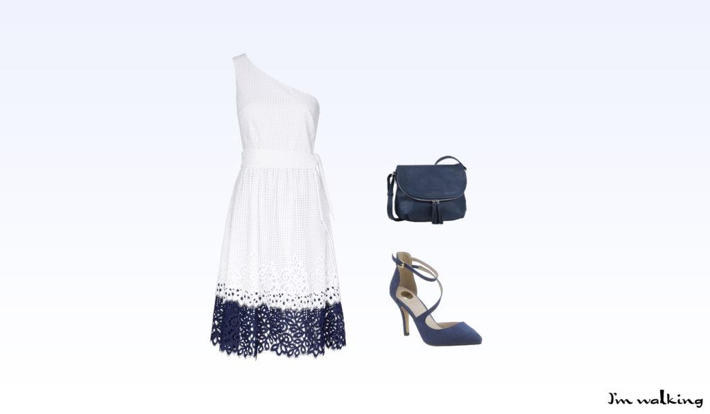 Schickes Sommeroutfit mit One-Shoulder Kleid!